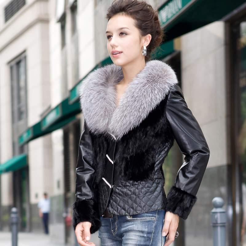 Куртка с мехом чернобурки 9