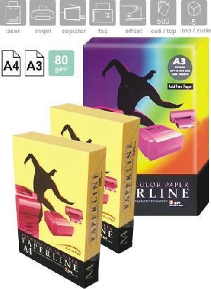 Купить Цветная бумага Paperline формат А3, А4, плотность 80 и 160 грамм/метр