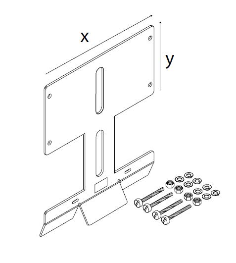 Кронштейн для соединительной коробки / термостата SB-120