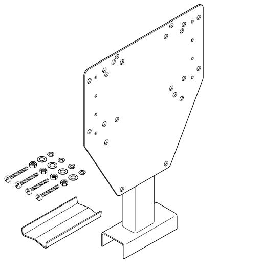 Кронштейн для соединительной коробки / термостата SB-125