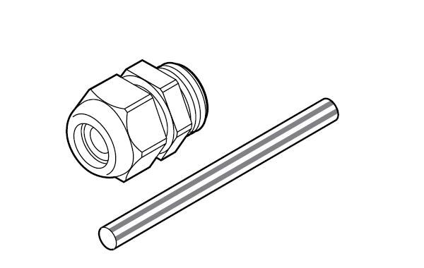 Кабельный сальник М20 с термоусаживаемой трубкой для заземляющей жилы GL-44-M20-KIT