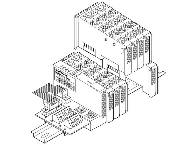 Двухканальный модуль цифровых входов MONI-RMC-2DI
