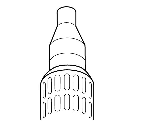 Фен горячего воздуха для усадки термоусаживаемых трубок CV 1983-230 B - 3400 Вт