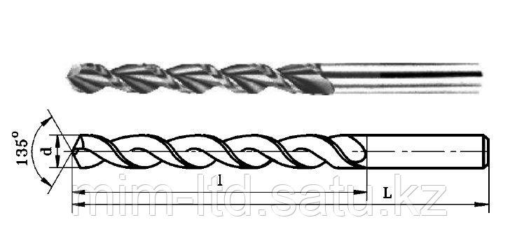 Сверло спиральное с цилиндрическим хвостовиком для обработки алюминиевых сплавов