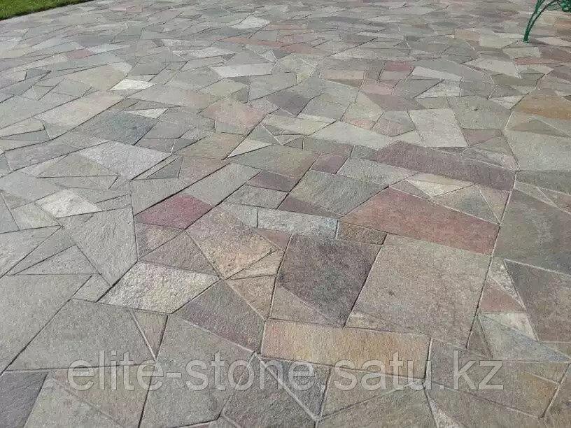 Купить Мощение двора натуральным камнем