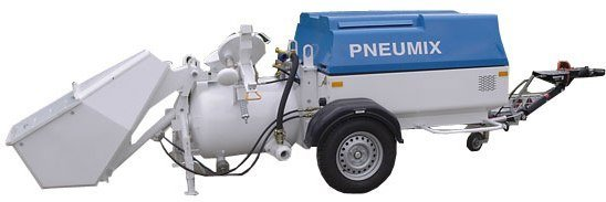 Pneumatic concrete pump of the series Pneumix, PX 200 EK