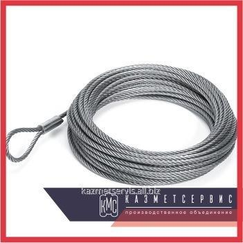 Rope of galvanized 3,8 mm of GOST 3070-74