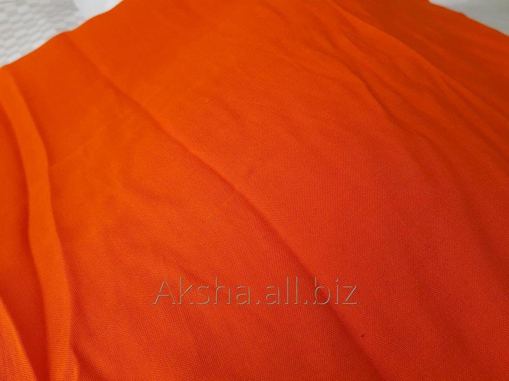 Купить Штапель Однотонный Цвет Оранжевый
