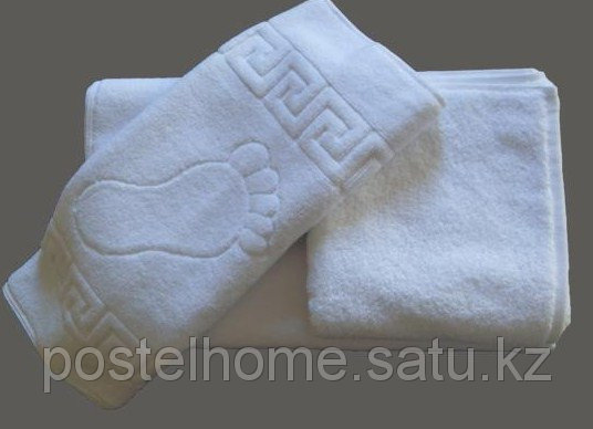 Махровое полотенце для ног 50*70 белое
