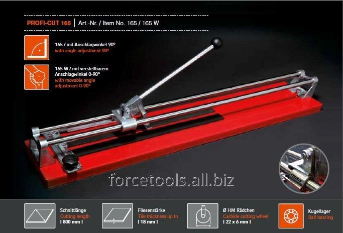 Buy Cutting torch of tiles of 800 mm with the emphasis on the bearing with a mobile corner adjustment 0-90 (PROFI-CUT)