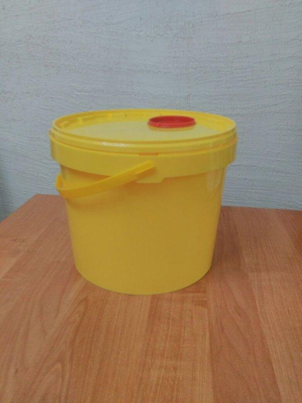 Купить Контейнер пластиковый (ведро) для безопасной утилизации медицинских отходов класс «Б».