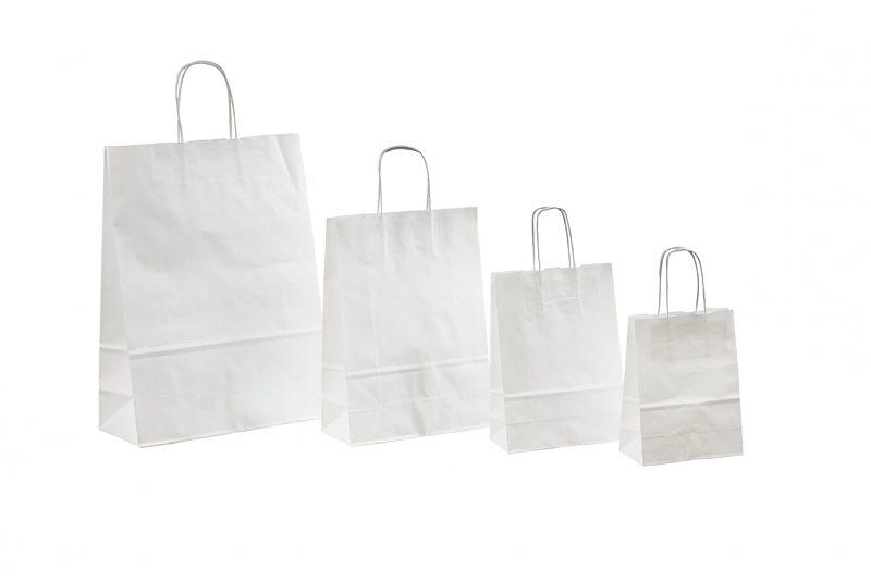 Хартия торба (бял крафт) 12 * 8,5 * 36 90 плътност