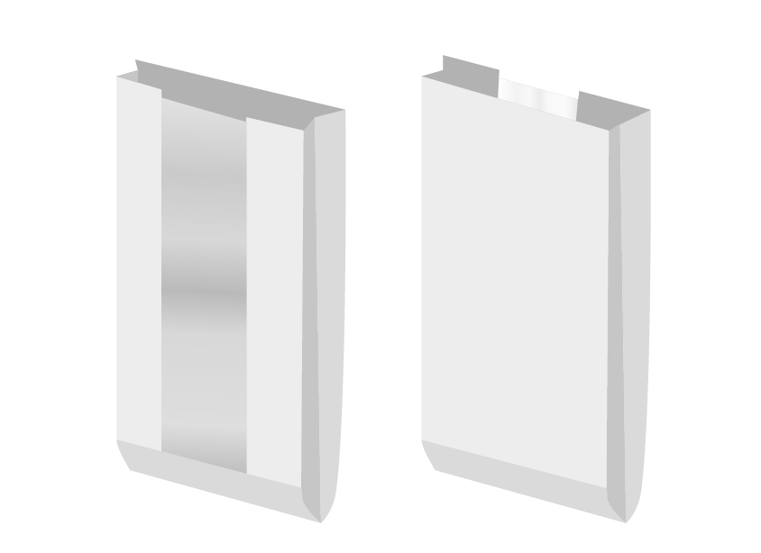 Paperipussi (valkoinen Kraft jossa on ikkuna) 12 * 8,5 * 36 90 tiheys