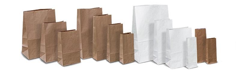 Бумажный пакет (белый крафт, коричневый крафт) 20*10*36 плотность 80-78