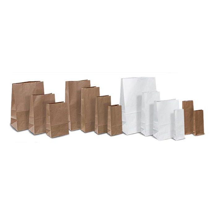 Бумажный мешок (белый крафт, 2 коричневых крафта) 28*11*50 плотность 70