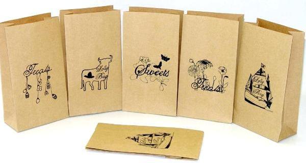 Бумажный пакет (с логотипом, коричневый крафт) 15,5*9*34 плотность 78