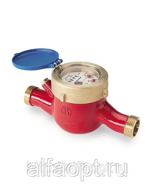 Общедомовой счетчик воды СВГДИ Миномесс М, 90°C, DN 40, Qn 10, L 300 mm, с имп. (10 или 100L/Imp.), с присоед.