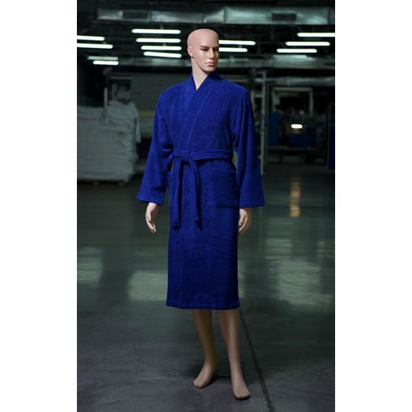 Купить Махровый халат Королевский Синий