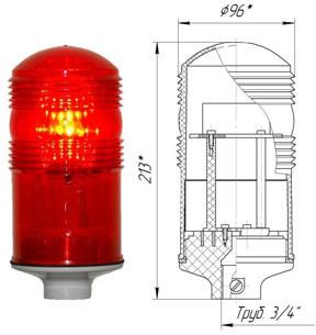 Заградительный огонь ЗОМ-48LED >32cd, тип Б, 30-265V AC/DC, IP54.