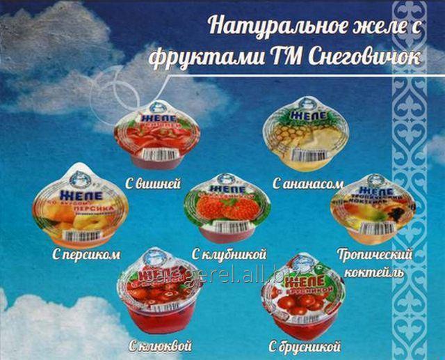Купить Желе фруктовое с брусникой ТЗ Снеговичок 150 гр./12