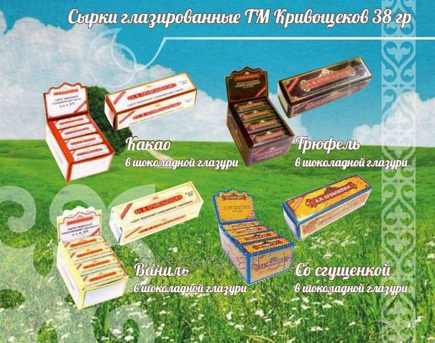 Сырок глазированный с какао в кондитерской глазури 38 гр/32
