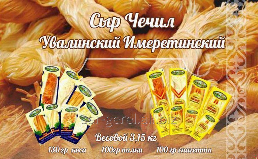 Сыр Чечил Увалинский палочки копченый 100 гр./50