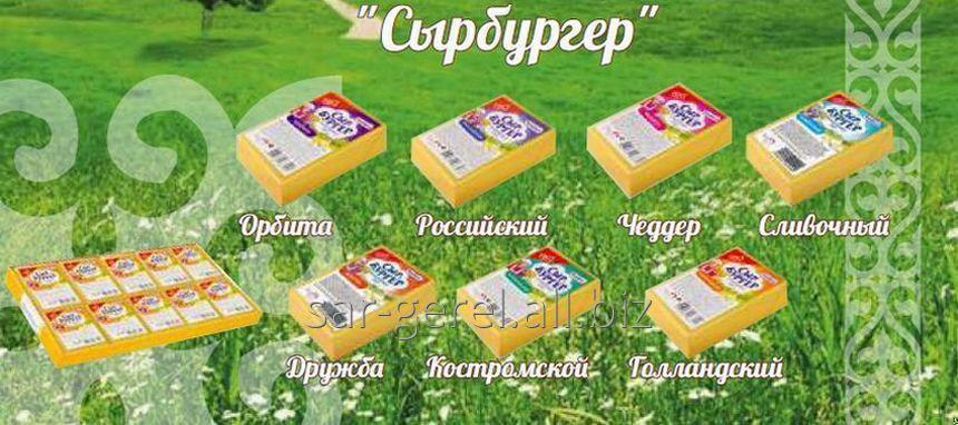 Купить Сыр плавленый 70 гр Российский Сырбургер/10/50