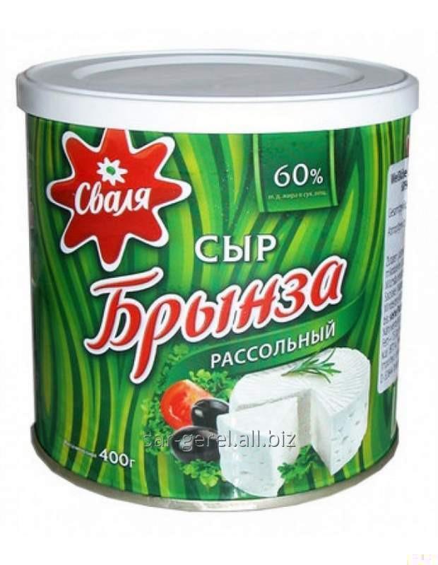 Купить Сыр мягкий рассольный Брынза ТМ Сваля 60% 400 гр.