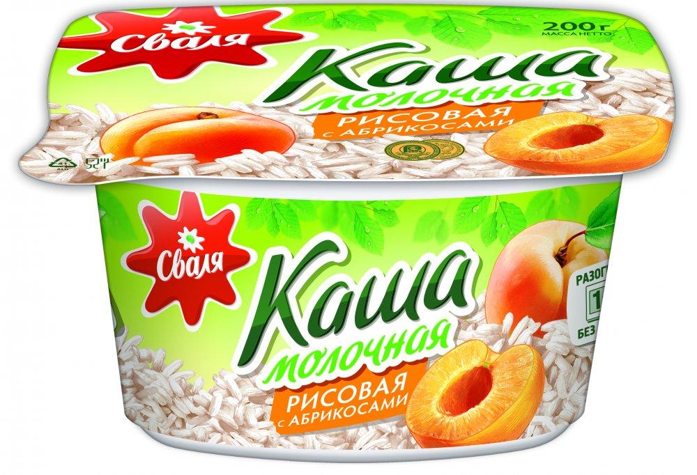 Купить Сваля каша рисовая с абрикосами 200г