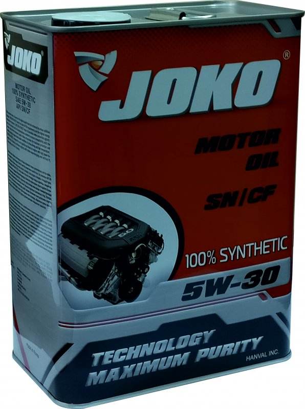 Buy JOKO GASOLINE engine oil of 100% Synthetic SN/CF 5w-30 4 of l