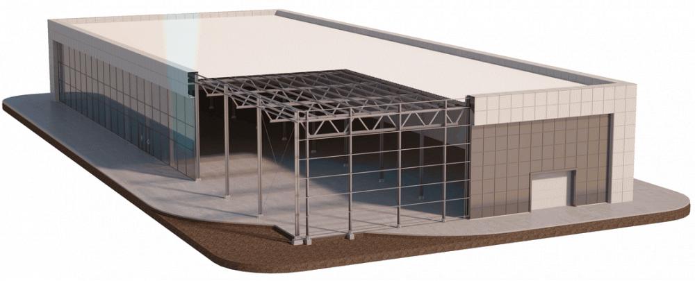 Купить Здание из легкой металлоконструкции