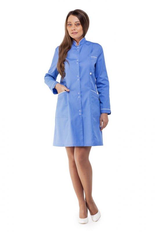 Купить Халат женский ВАНДА голубой