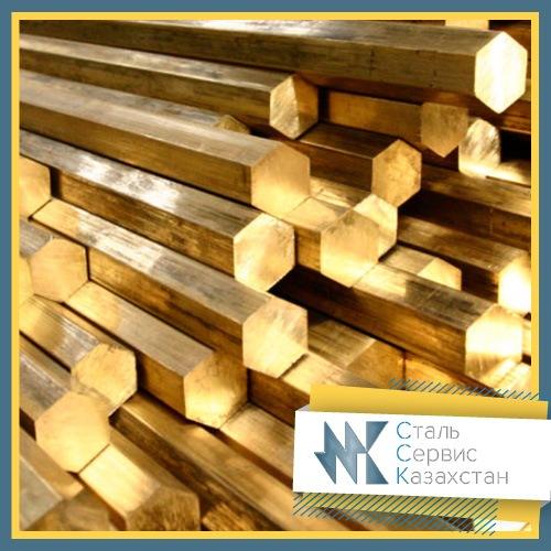 Buy The hexagon is bronze, the size is 5 mm, TU 48-21-867-89, brand бражмц10-3-1.5