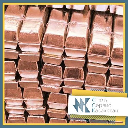 Buy Copper in ingots chushka, the size of mm, GOST 193-79, ISO 431-81, brand mb1