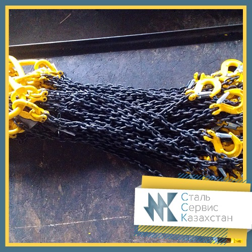 Buy Slings cargo chain of high-strength accessories (class 8) 1STs, VTs (one branch), the size of 8x24 mm, the Size of a chain are 8x24 mm, L=3,5 m, the loading capacity of 2 t.