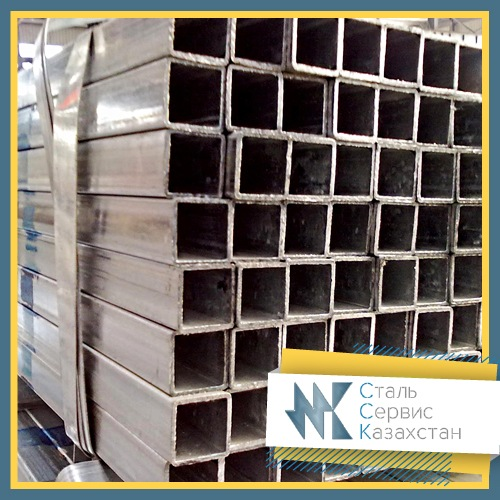 Buy The pipe is profile, the size is 60x60x4 mm, Square, 8639-82, 8645-68, steel 09g2s, 17g1su, L = 12 meters
