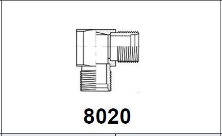 Адаптер 90° 2 x нар. резьба UNF 8020