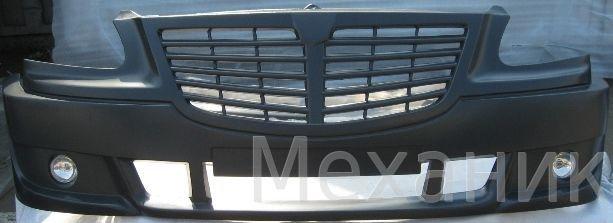 Бампер на Газель с 2003г.по2009г.ХБМ цвет серый+2 туманки