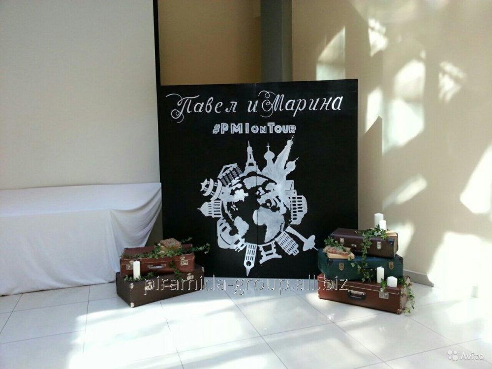 Грифельная меловая доска на свадьбу в Алматы, арт. 11656204