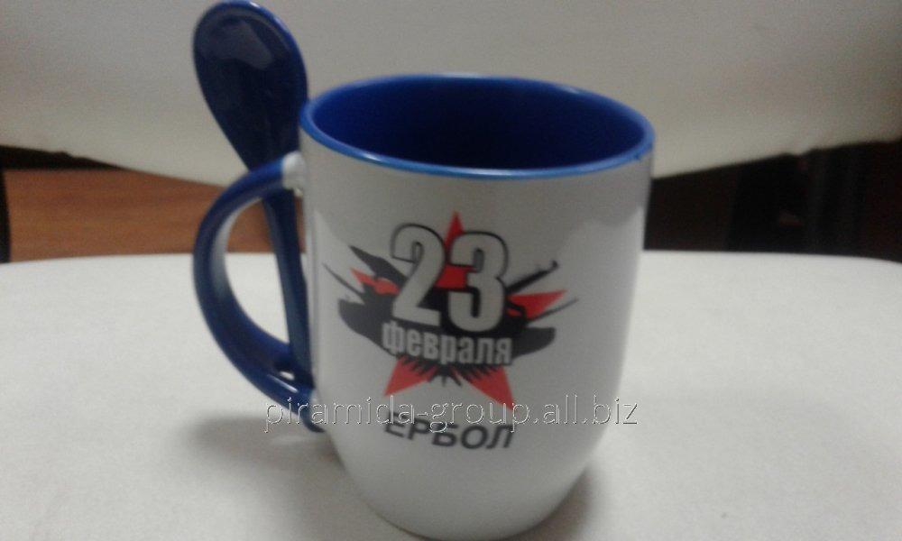 Кружка с нанесением логотипа рисунка в Алматы, арт. 2264553