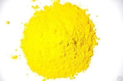 Купить Пигмент желтый для бетонных изделий