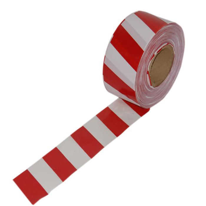 Купить Лента оградительная Эконом ЛО-250/75 Э, длиной 200 п.м, шириной 75 мм, бело-красная/черно-желтая