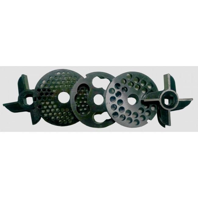 Купить Комплект ножей и решеток мясорубки МИМ-300 (без бурта)