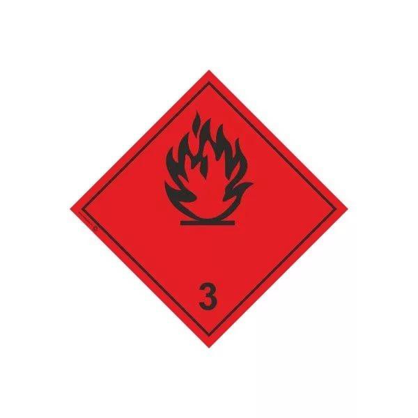 Купить Знак опасности «Легко- воспламеняющиеся жидкости (№3)»