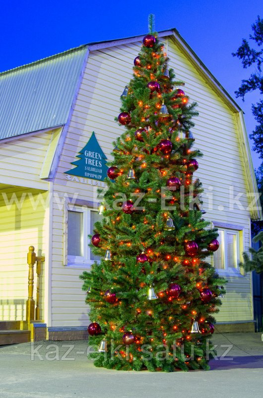 Street Artificial Ural Christmas Tree Needles Film Of Frame Type