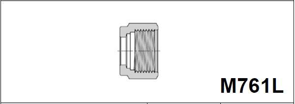Гайка для метрической трубки M761L