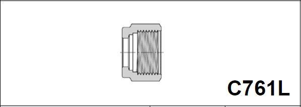 Гайка для дюймовой трубки C761L