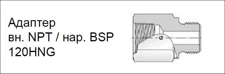 Адаптер вн. NPT / нар. BSP 120HNG