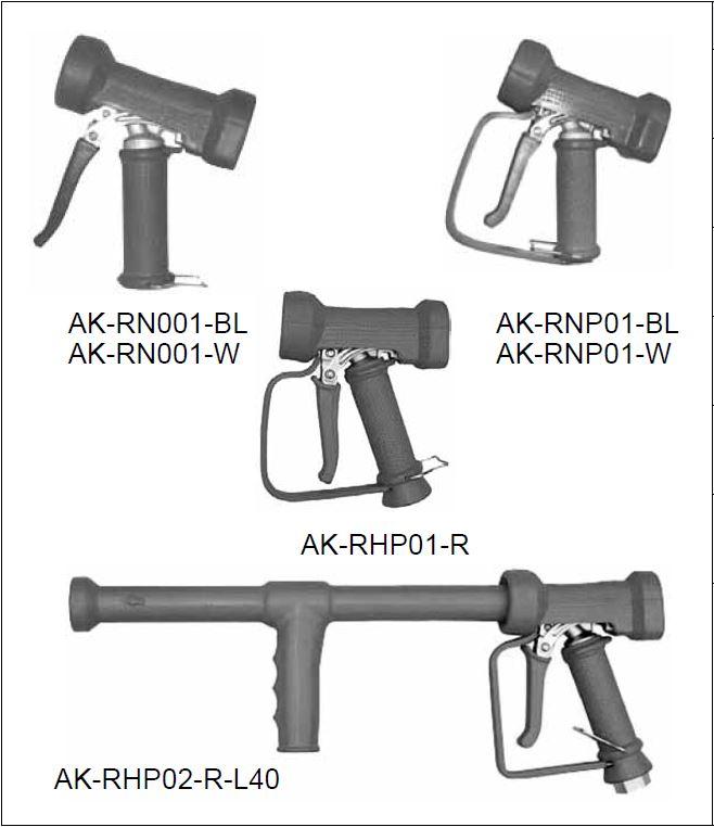 Водяной пистолет AKBO AK-RHP02-R-L40