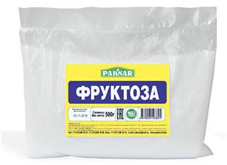 Фруктоза 500г Paknar, 4870004103825